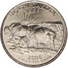 2006-D North Dakota Quarter Brilliant Uncirculated Image 1