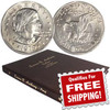 Susan B. Anthony Complete 18 Coin Set Brilliant Uncirculated-Proof with FREE Album Image 1