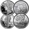 Mercury & Walking Liberty 1/10-Oz. Silver Round Pair
