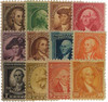 1932 Washington Bicentennial 12-Stamp Set Image 1