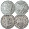 U.S. 1878-S & 1892-S Morgan Silver Dollar Pair Very Fine