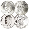1972-S Eisenhower 40% Silver Dollar Brilliant Uncirculated and Proof Pair