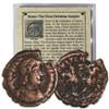 Rome First Christian Empire Bronze Coin Image 1