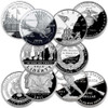 Military Commemorative Silver Dollar Proof 5 Coin Collection
