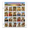 1994 Legends of the West Stamp Sheet Error