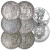 1921 P, D & S Morgan Silver Dollar Trio with FREE 2021 Silver Eagle Image 1