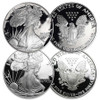 1986 & 2004 Silver Eagle Proof Pair