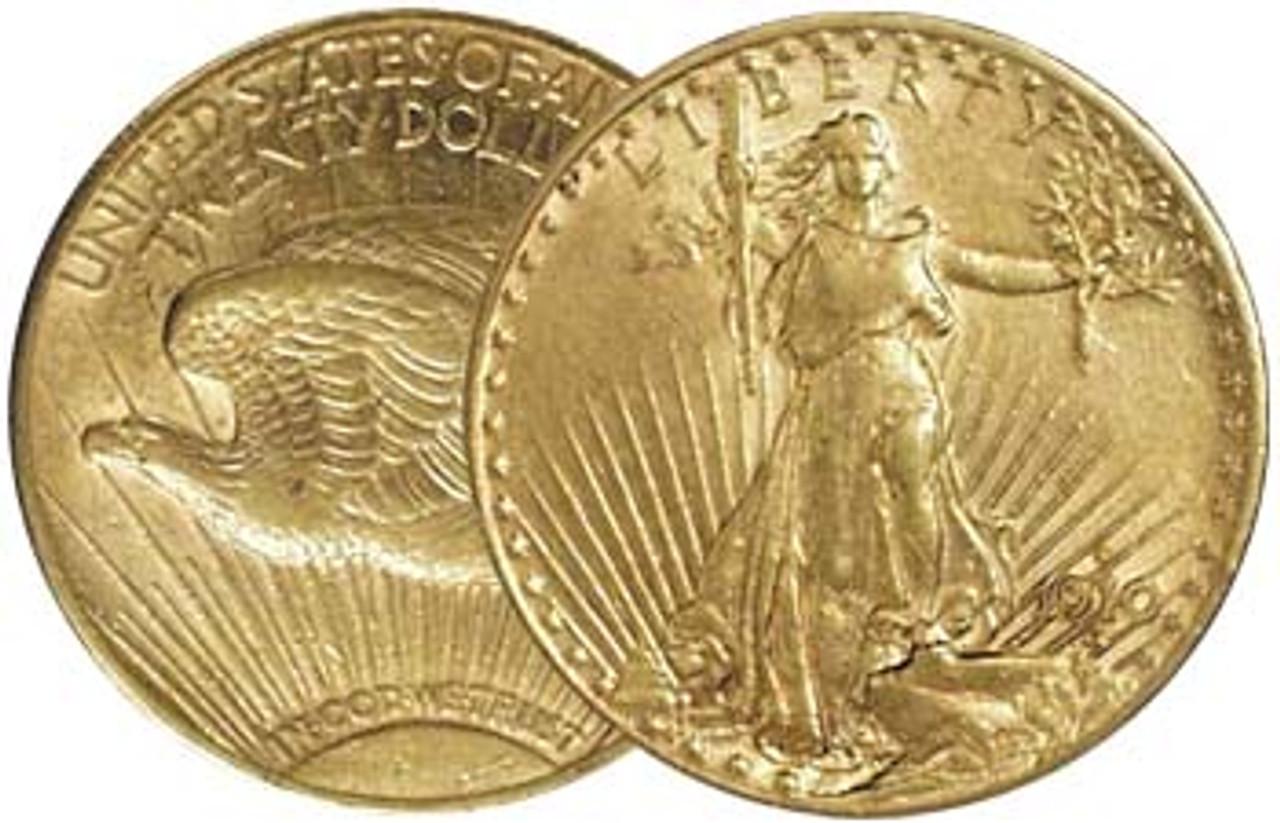 U.S. 1907-1933 Saint-Gaudens $20 Gold Extra Fine