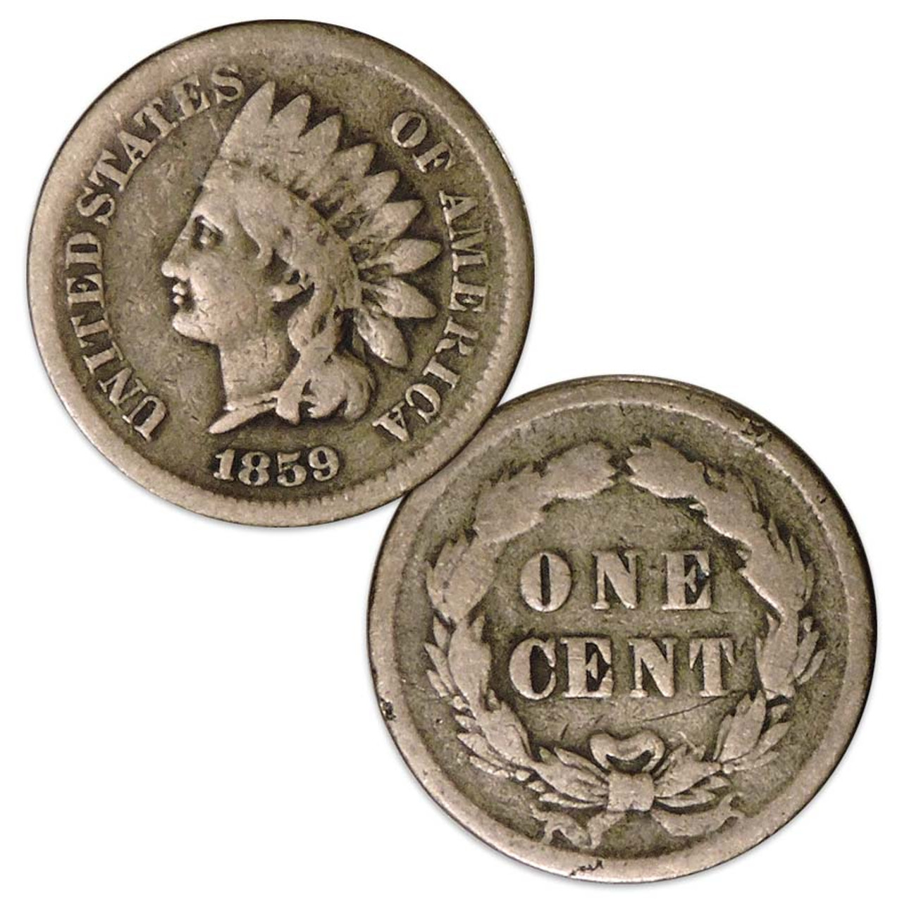 1859 Indian Head Cent Good Image 1