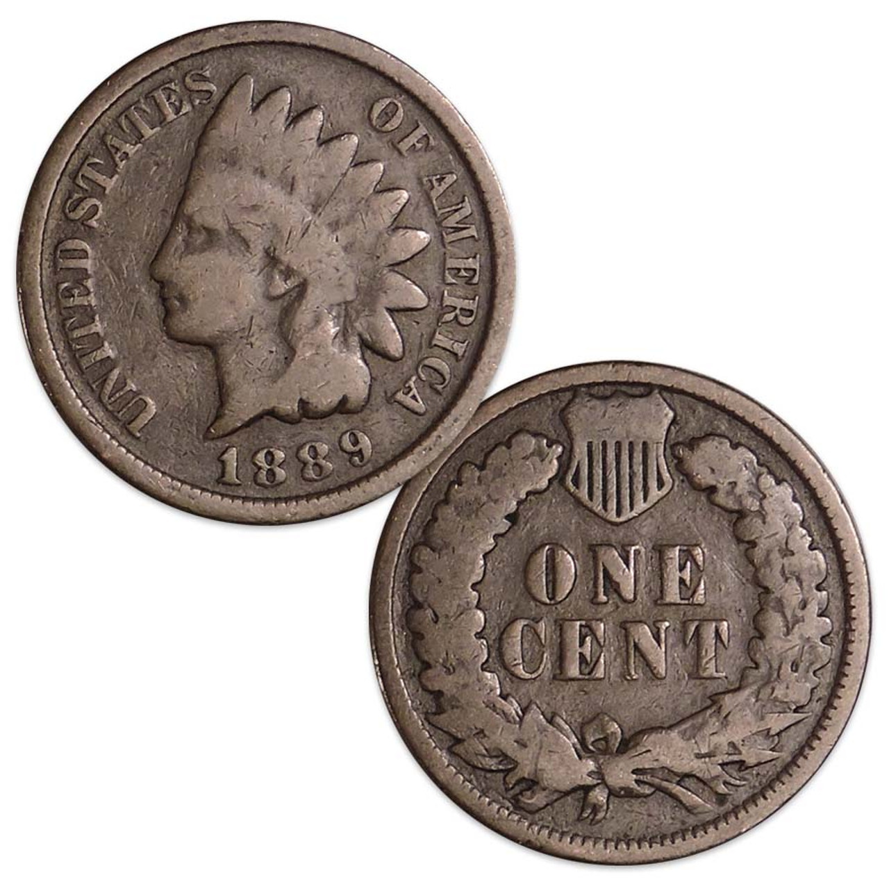 1889 Indian Head Cent Good Image 1