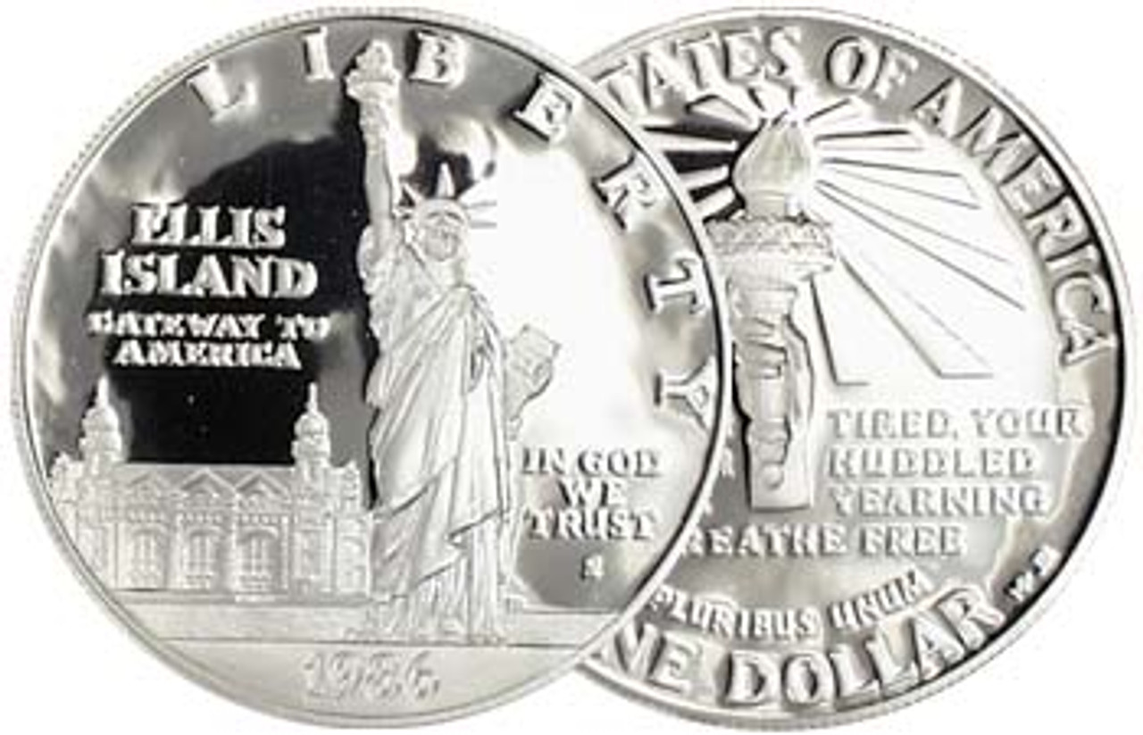1986-S Statue of Liberty Silver Dollar Proof Image 1
