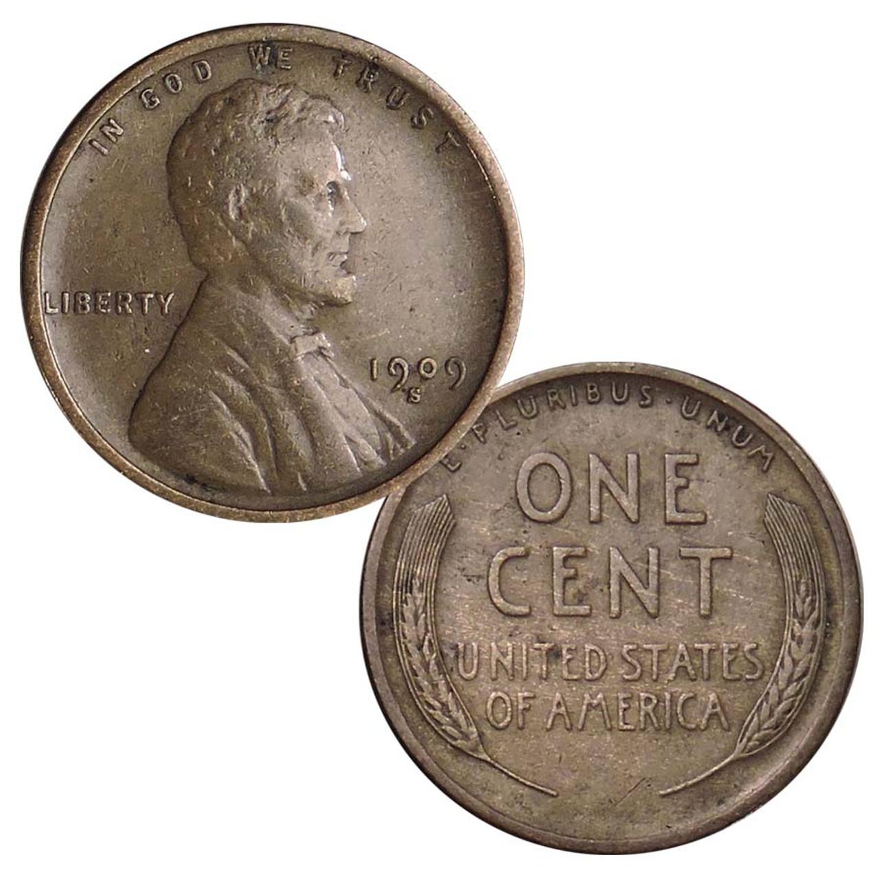 1909-S Lincoln Cent Fine Image 1