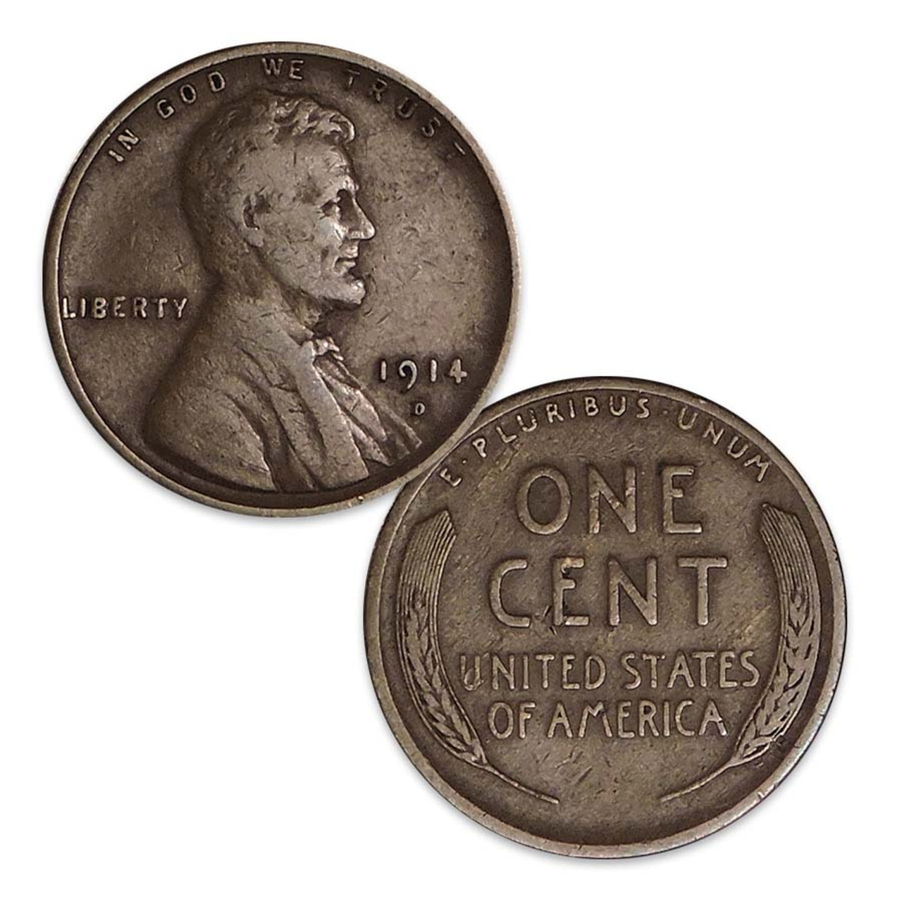 1914-D Lincoln Cent Good Image 1