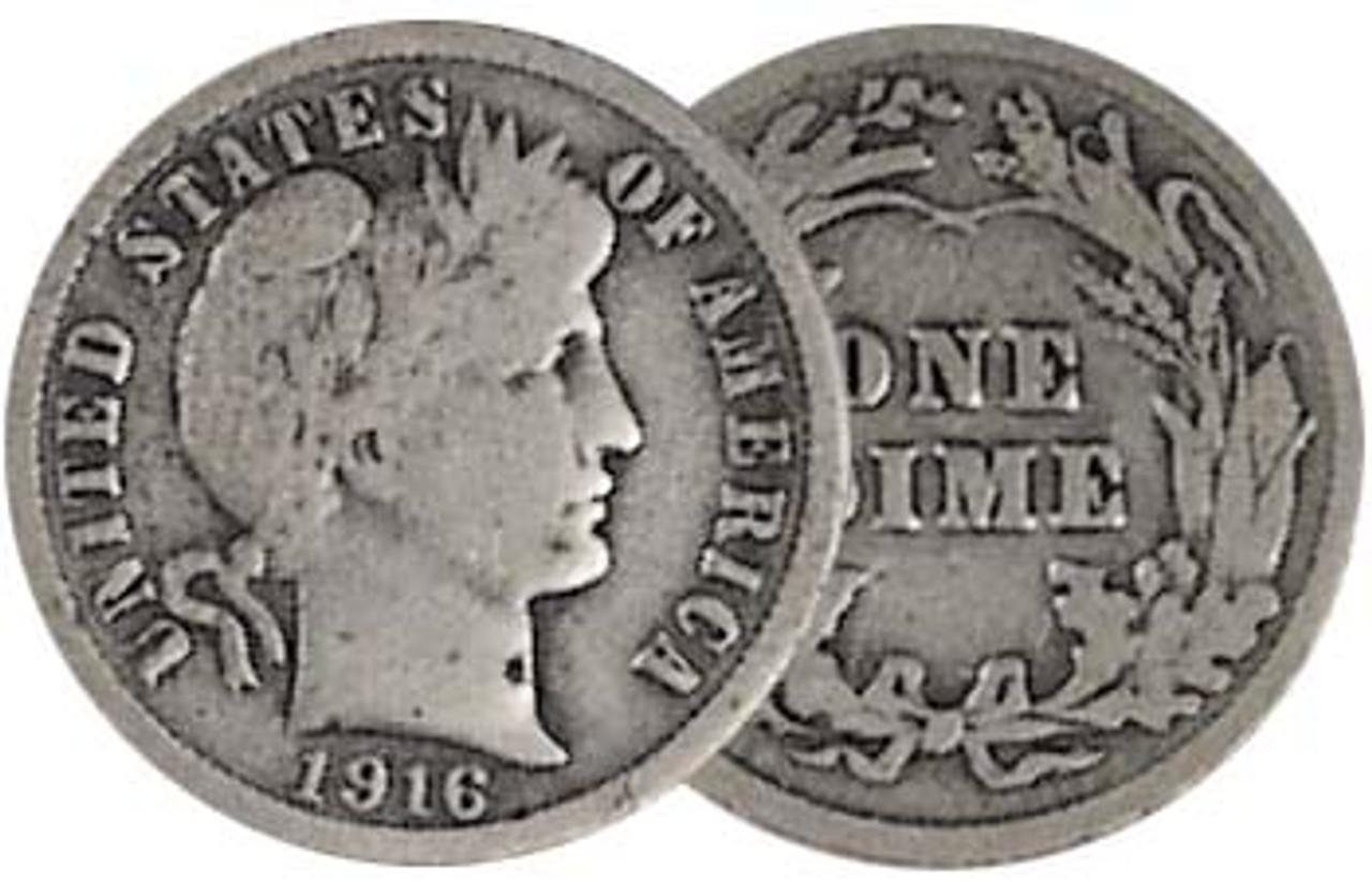 1892-1916 Liberty Barber Silver Dime Good Image 1