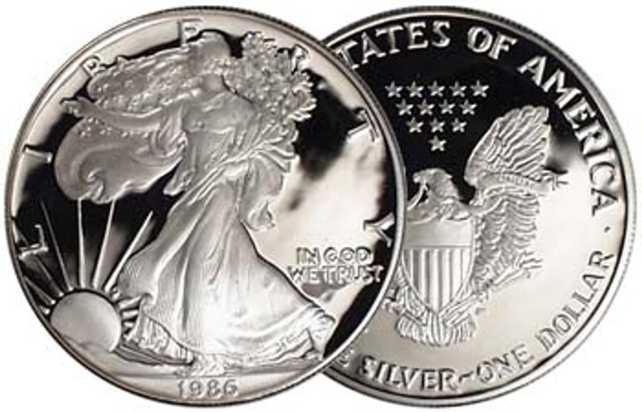 1986 Silver Eagle Proof Image 1