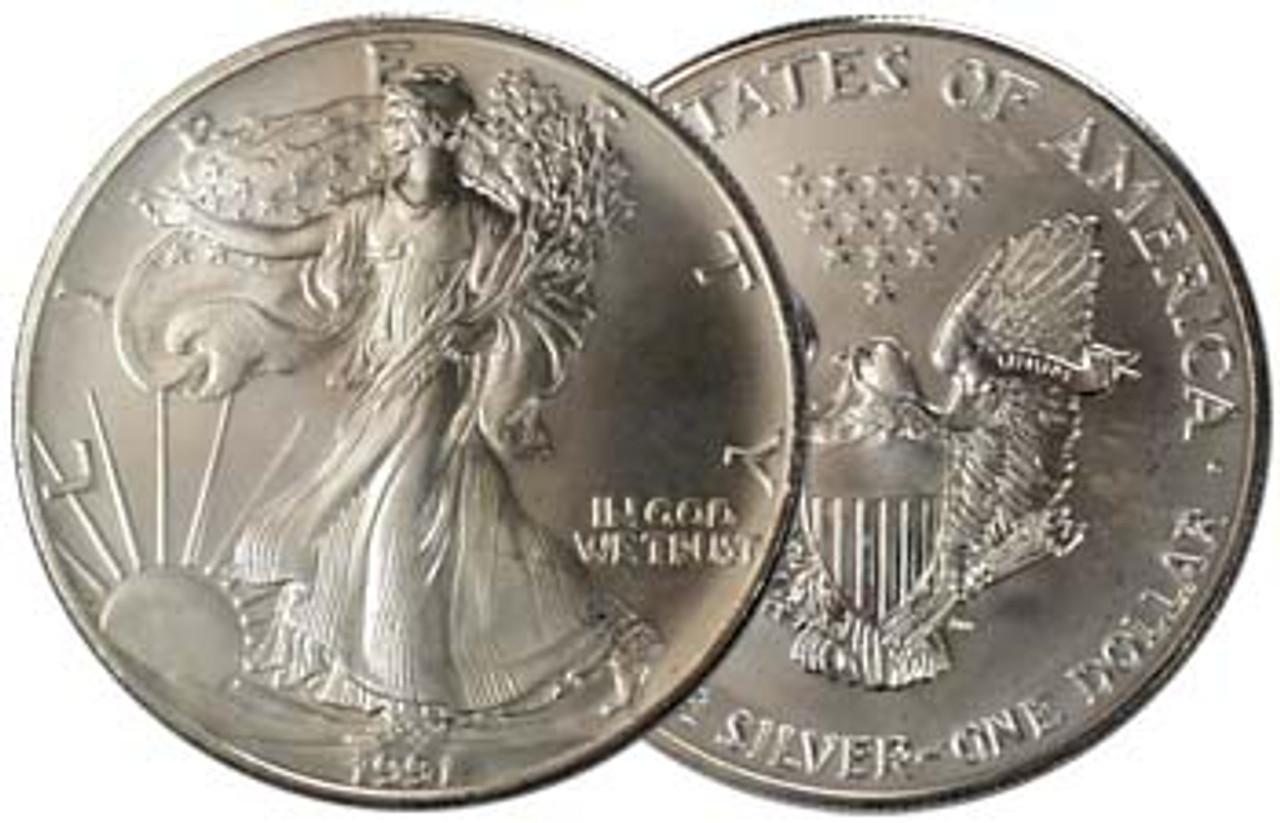 1991 Silver Eagle Brilliant Uncirculated Image 1