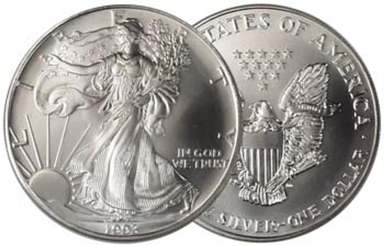 1993 Silver Eagle Brilliant Uncirculated Image 1