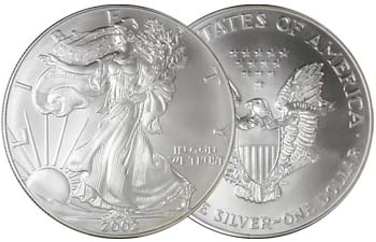 2002 Silver Eagle Brilliant Uncirculated Image 1