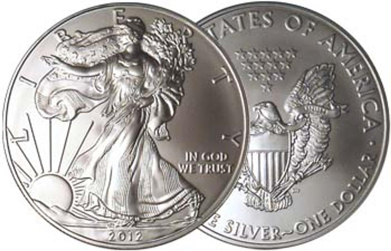 2012 Silver Eagle Brilliant Uncirculated Image 1