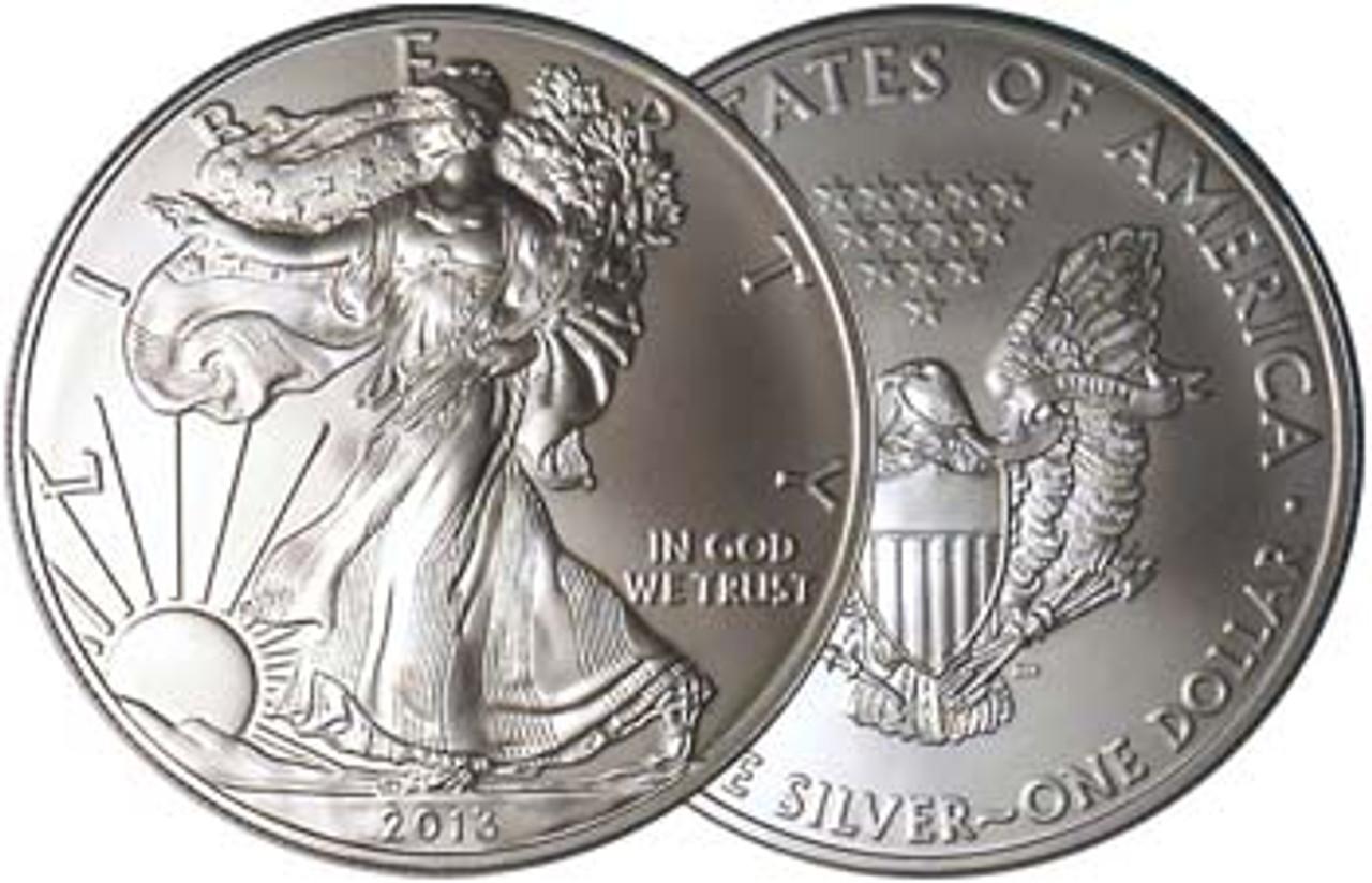 2013 Silver Eagle Brilliant Uncirculated Image 1
