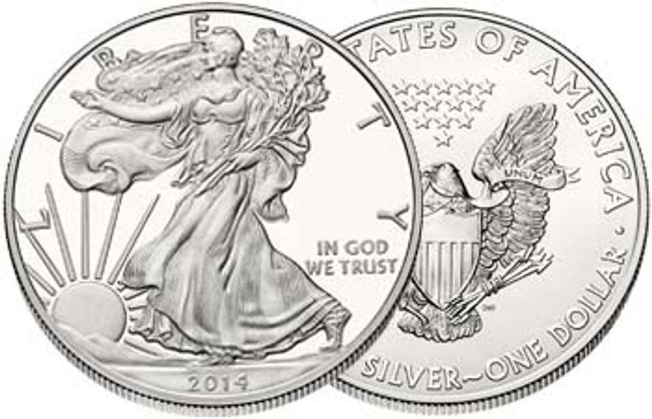2014 Silver Eagle Brilliant Uncirculated Image 1