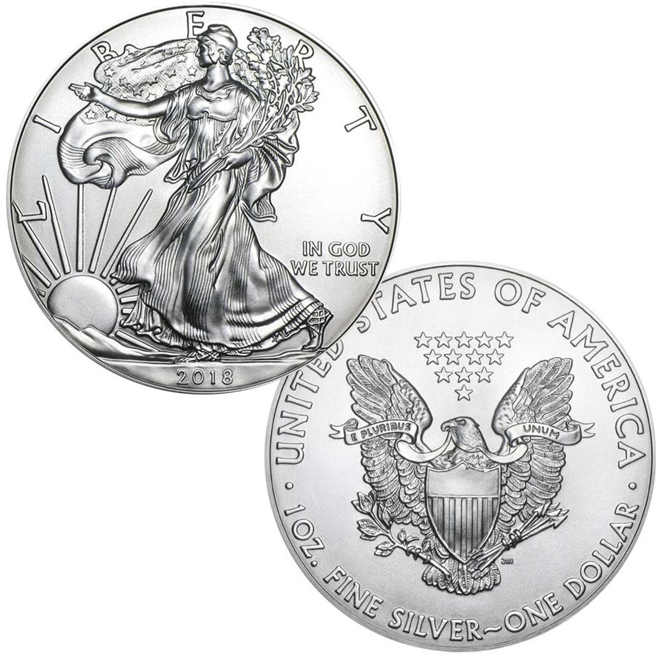 2018 Silver Eagle Brilliant Uncirculated Image 1
