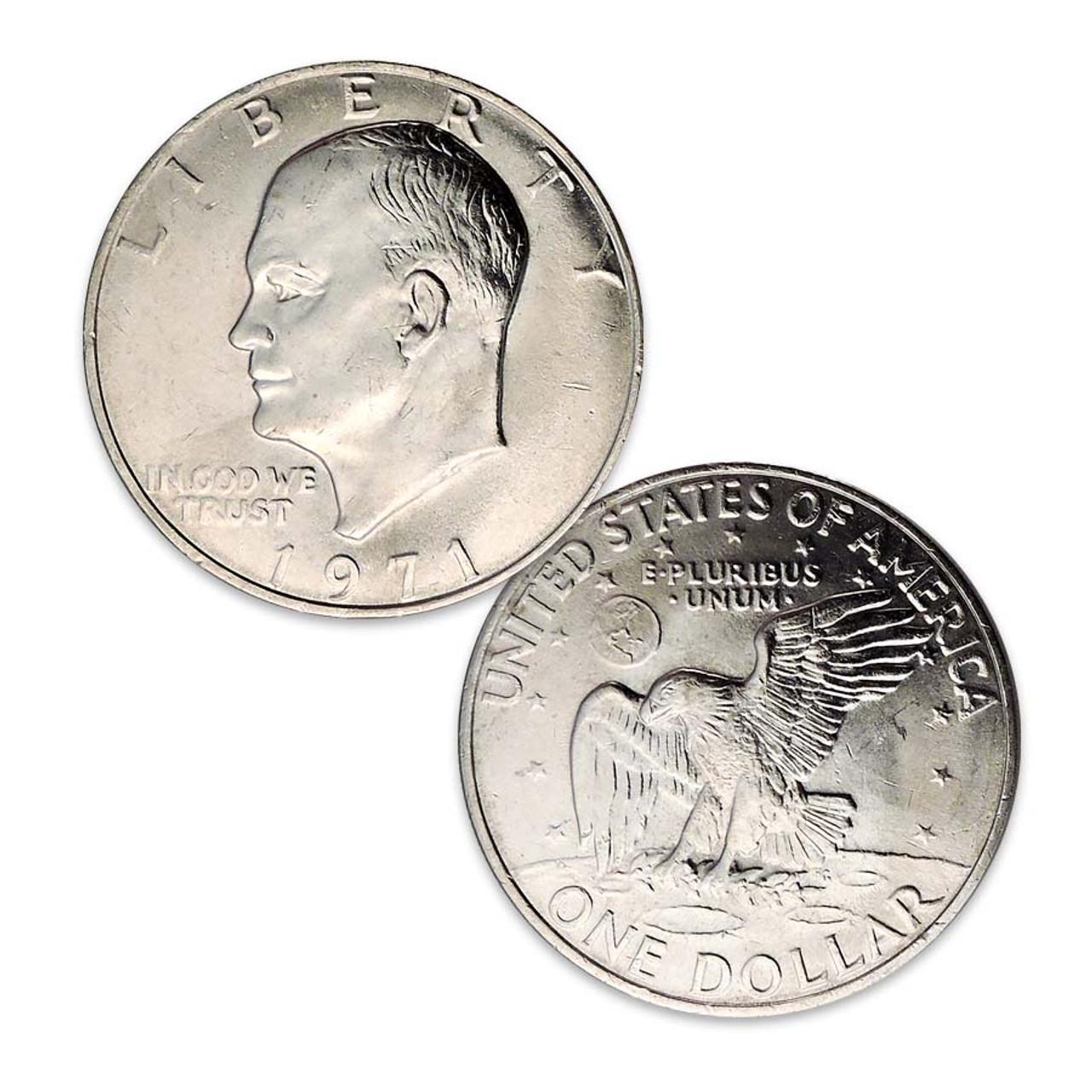 1971-P Eisenhower Dollar Brilliant Uncirculated Image 1