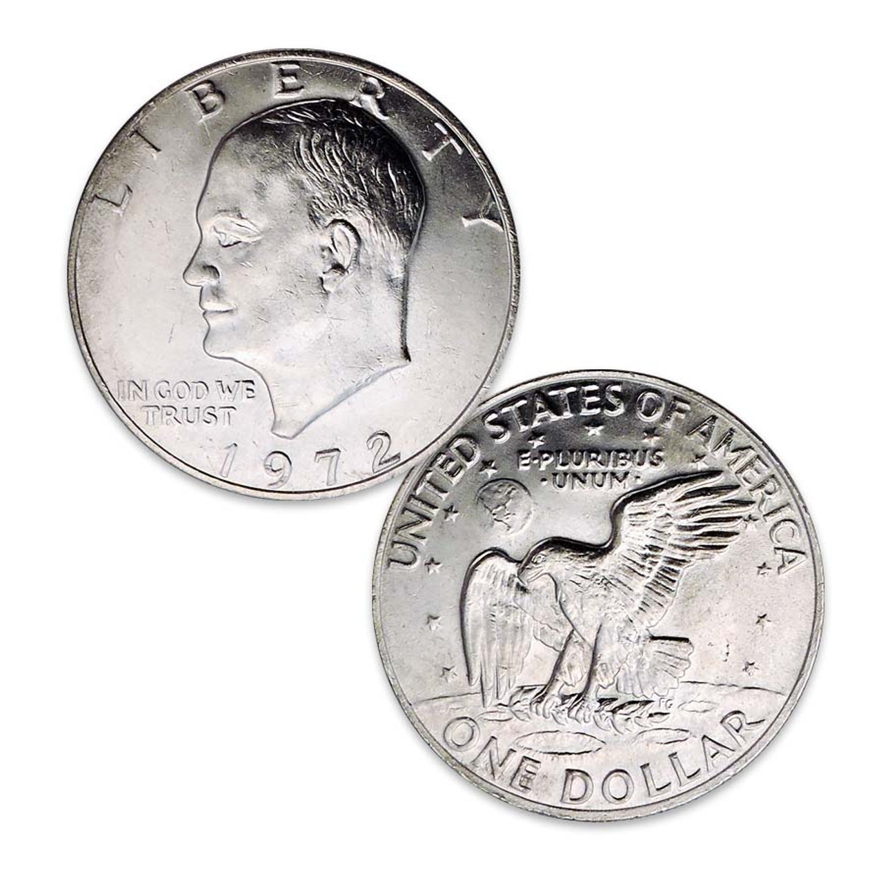 1972-P Eisenhower Dollar Brilliant Uncirculated Image 1