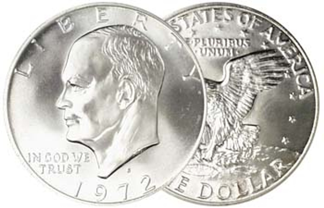 1972-S Eisenhower Dollar 40% Silver Brilliant Uncirculated Image 1