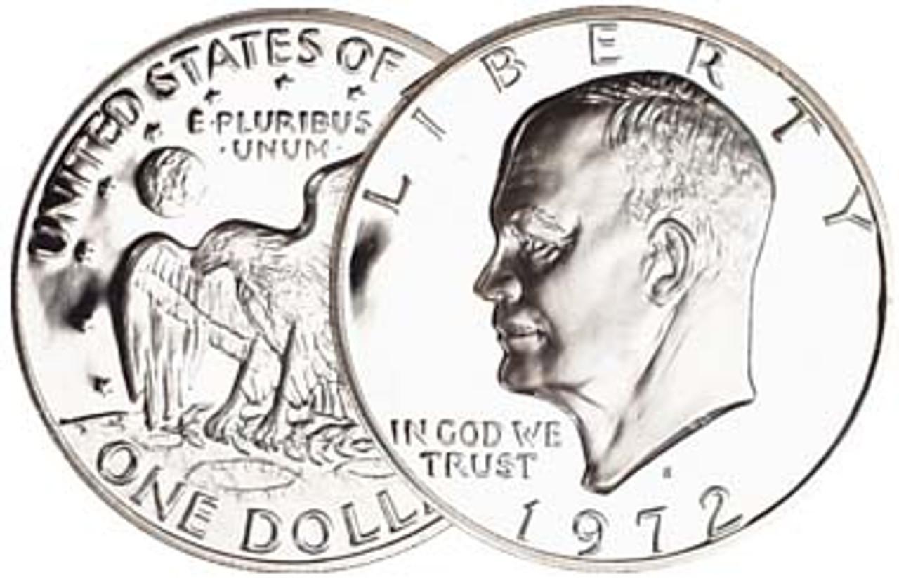 1972-S Eisenhower Dollar 40% Silver Proof Image 1
