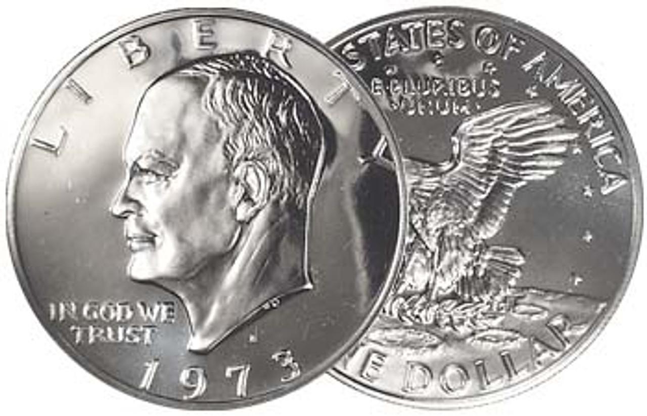 1973-S Eisenhower Dollar 40% Silver Proof Image 1