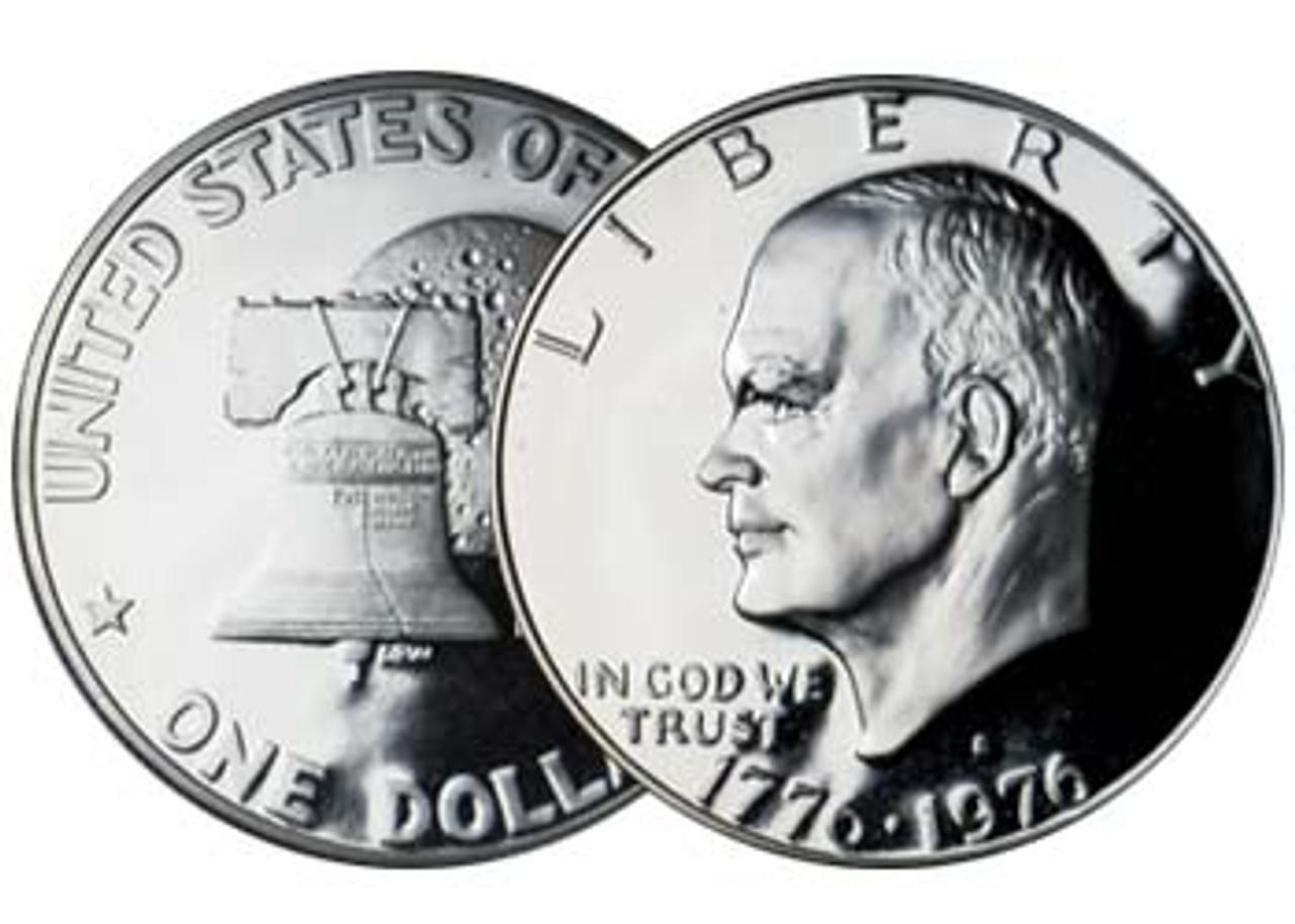 1976-S Eisenhower Dollar 40% Silver Proof Image 1