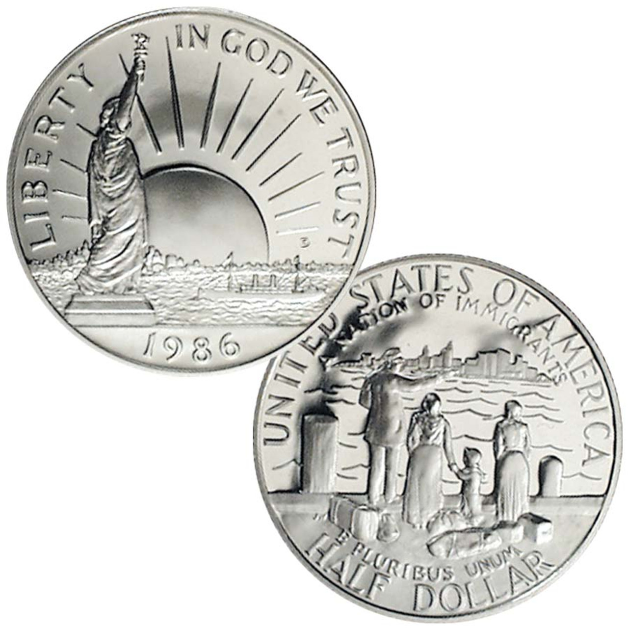 1986-D Statue of Liberty Half Dollar Brilliant Uncirculated Image 1