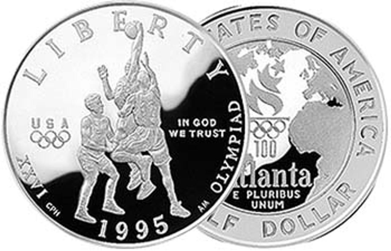 1995-S Olympic Basketball Half Dollar Proof Image 1