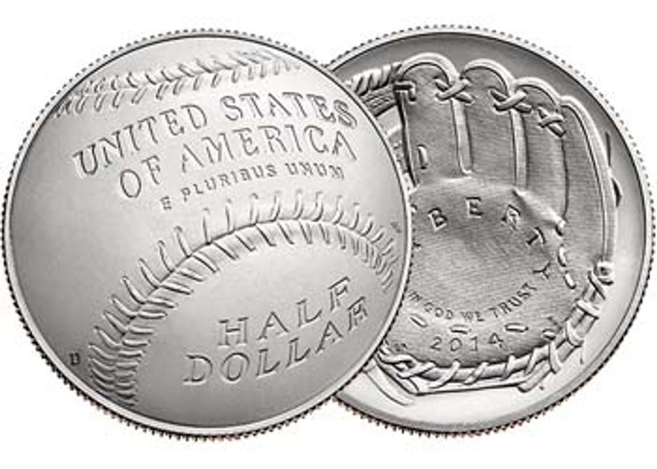 2014-D National Baseball Hall of Fame Half Dollar Brilliant Uncirculated Image 1