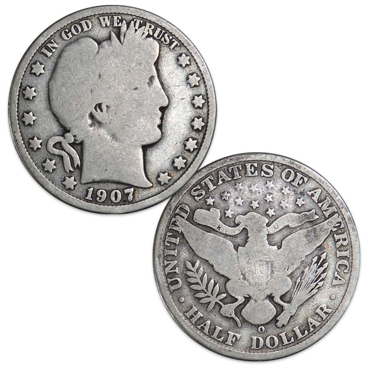 Liberty Barber Silver Half Dollar 1892-1915 Good Image 1