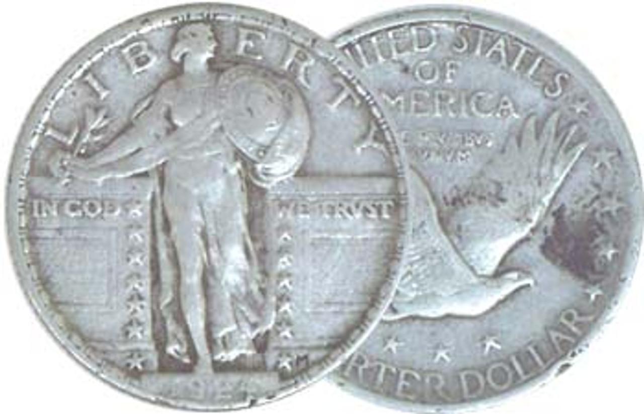 1917-1930 Standing Liberty Silver Quarter Type II Fine Image 1
