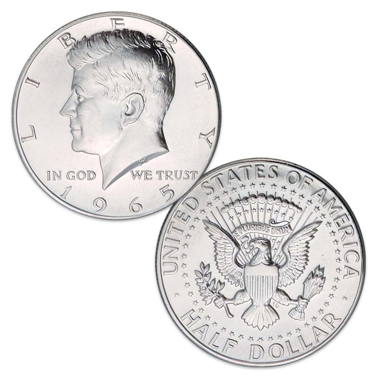 1965-SMS Kennedy 40% Silver Half Dollar Image 1