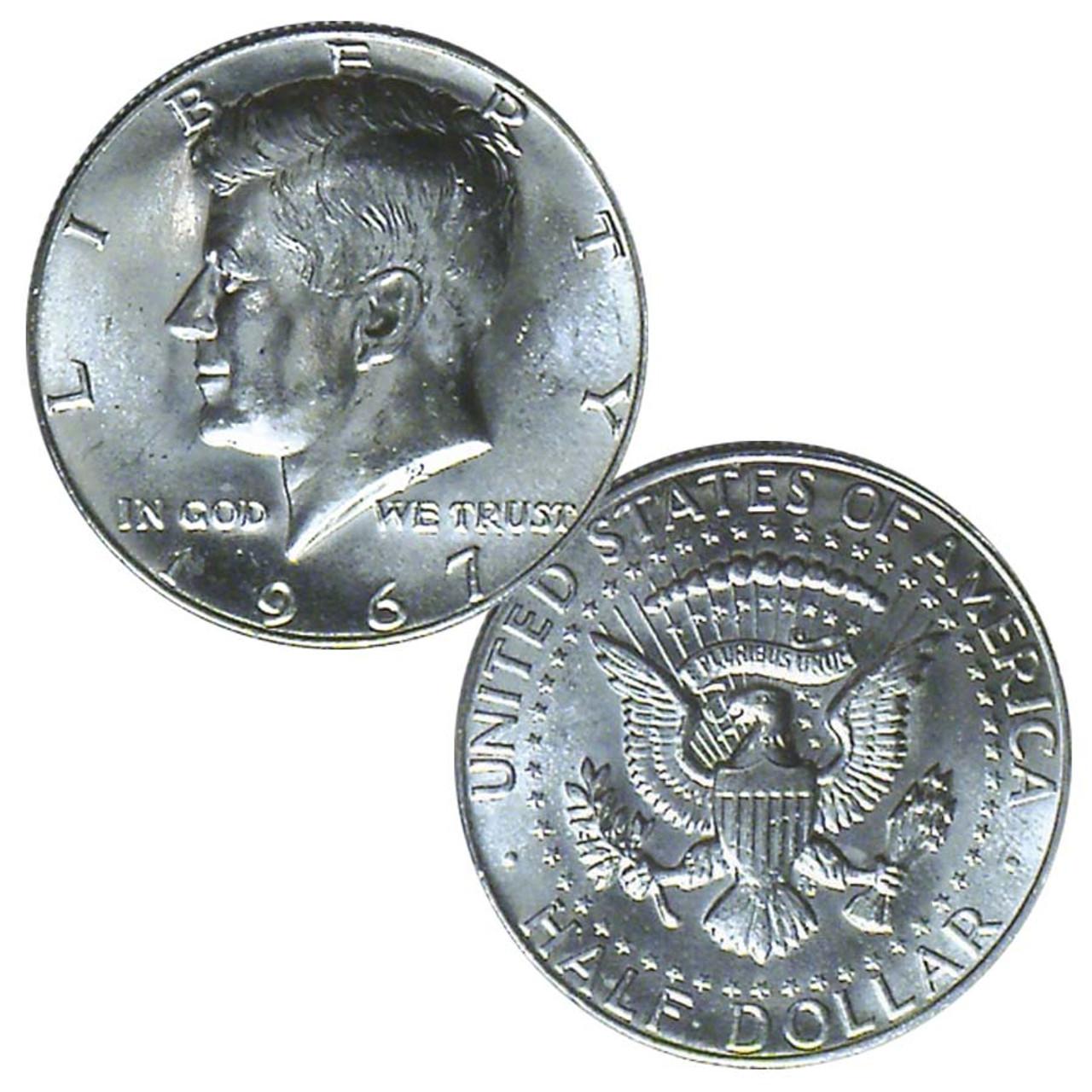 1967-P Kennedy 40% Silver Half Dollar Brilliant Uncirculated Image 1