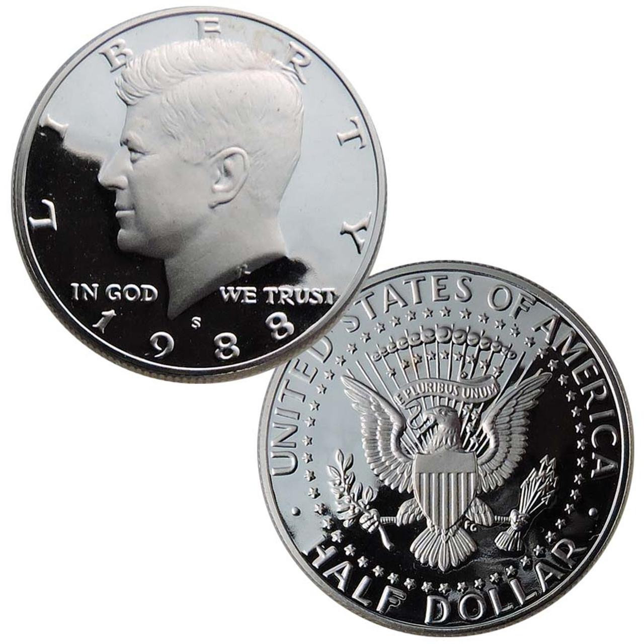 1988-S Kennedy Half Dollar Proof Image 1