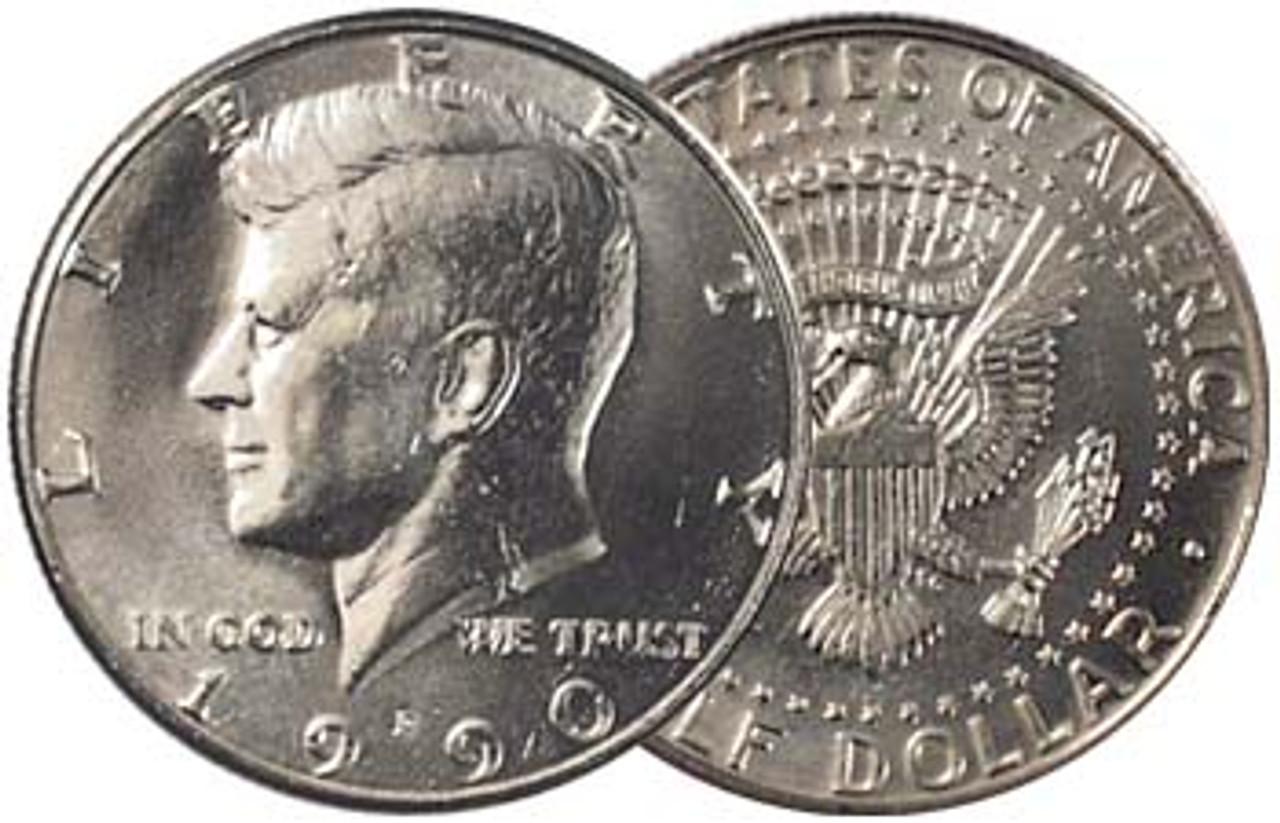 1990-P Kennedy Half Dollar Brilliant Uncirculated Image 1