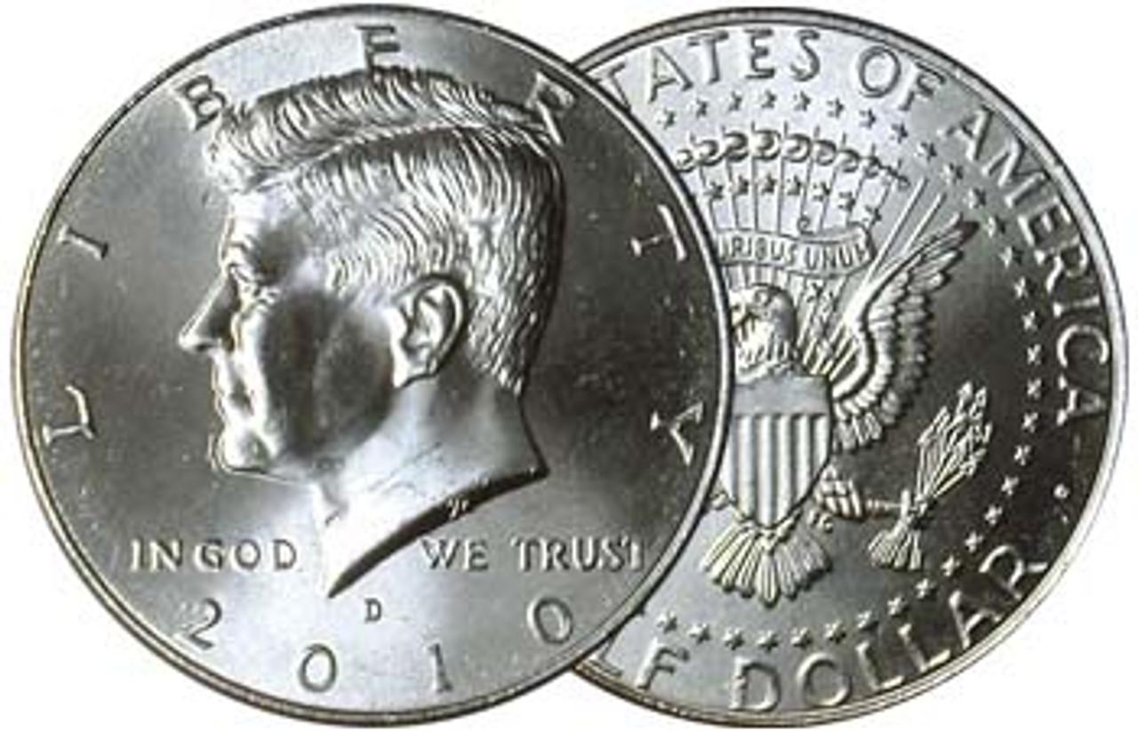 2010-D Kennedy Half Dollar Brilliant Uncirculated Image 1
