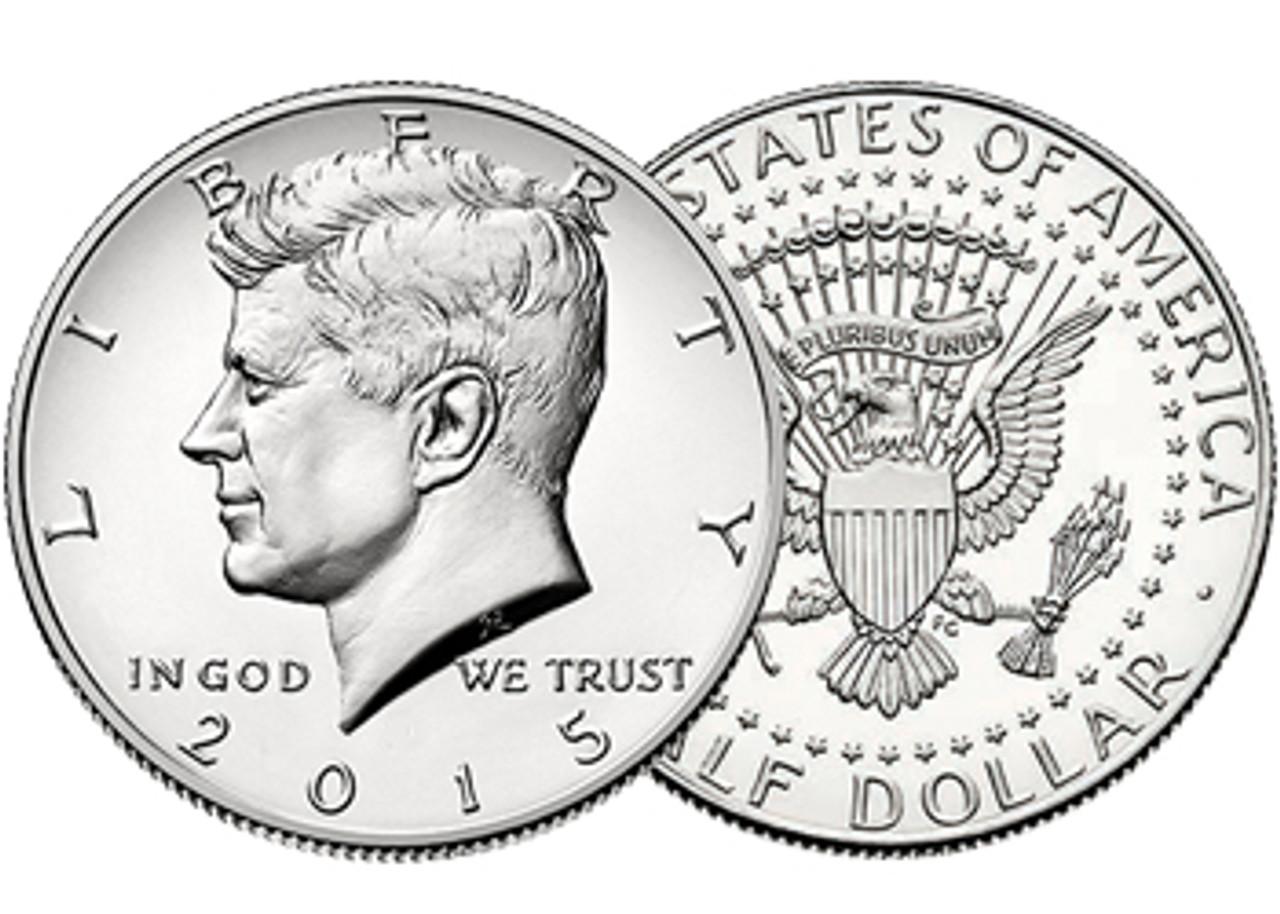 2015-D Kennedy Half Dollar Brilliant Uncirculated Image 1