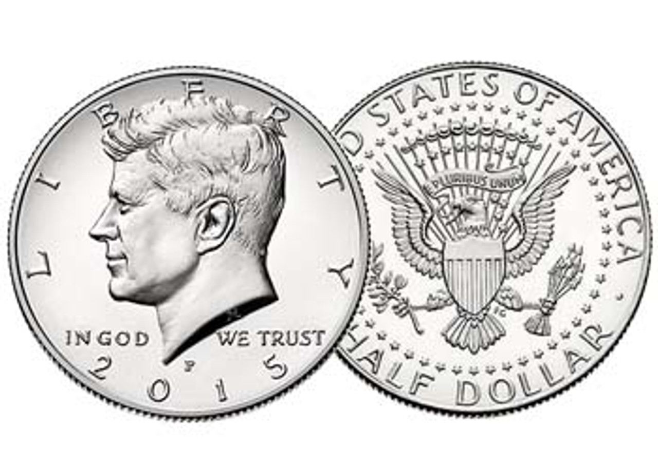 2015-P Kennedy Half Dollar Brilliant Uncirculated Image 1