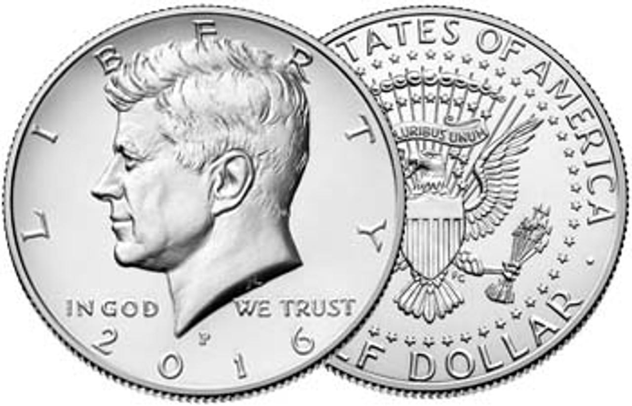 2016-P Kennedy Half Dollar Brilliant Uncirculated Image 1