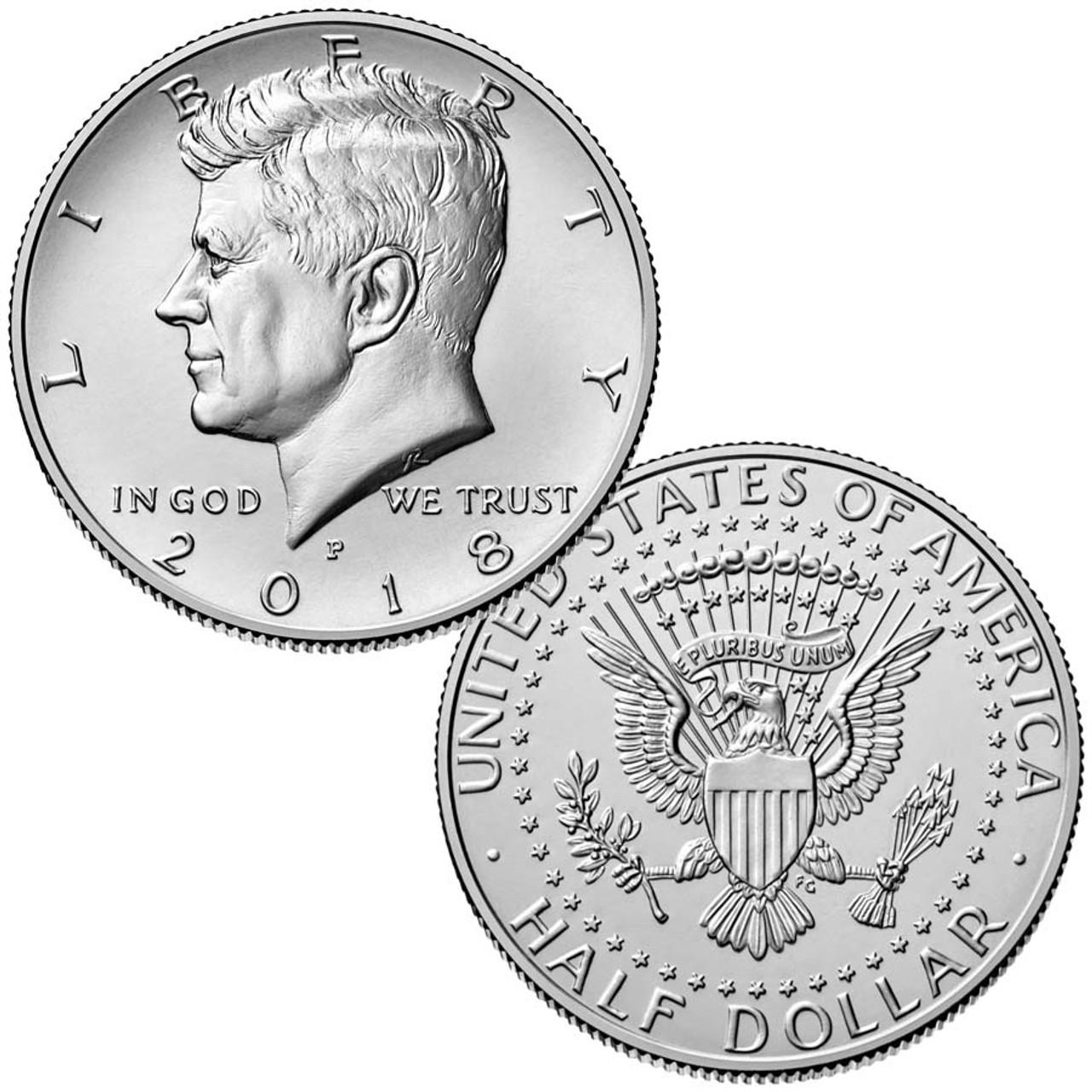 2018-P Kennedy Half Dollar Brilliant Uncirculated Image 1