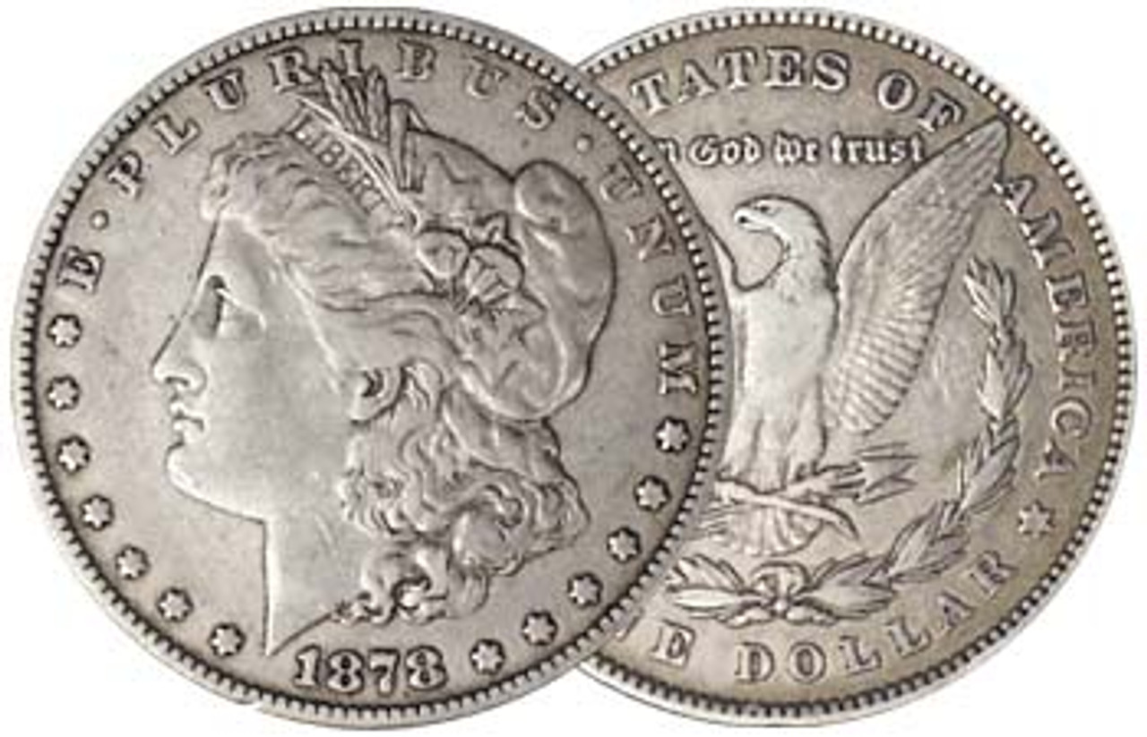 1878 7/8-Tail Feather Morgan Silver Dollar Very Fine Image 1