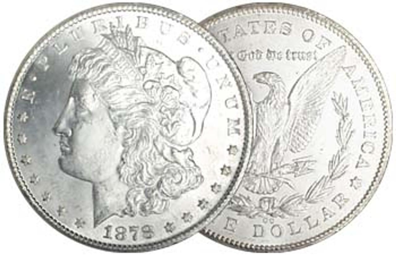1878-CC Morgan Silver Dollar Brilliant Uncirculated