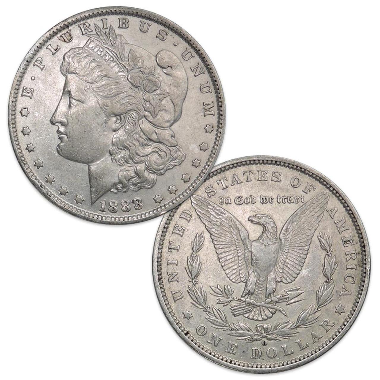 1888-O Morgan Silver Dollar Extra Fine Image 1