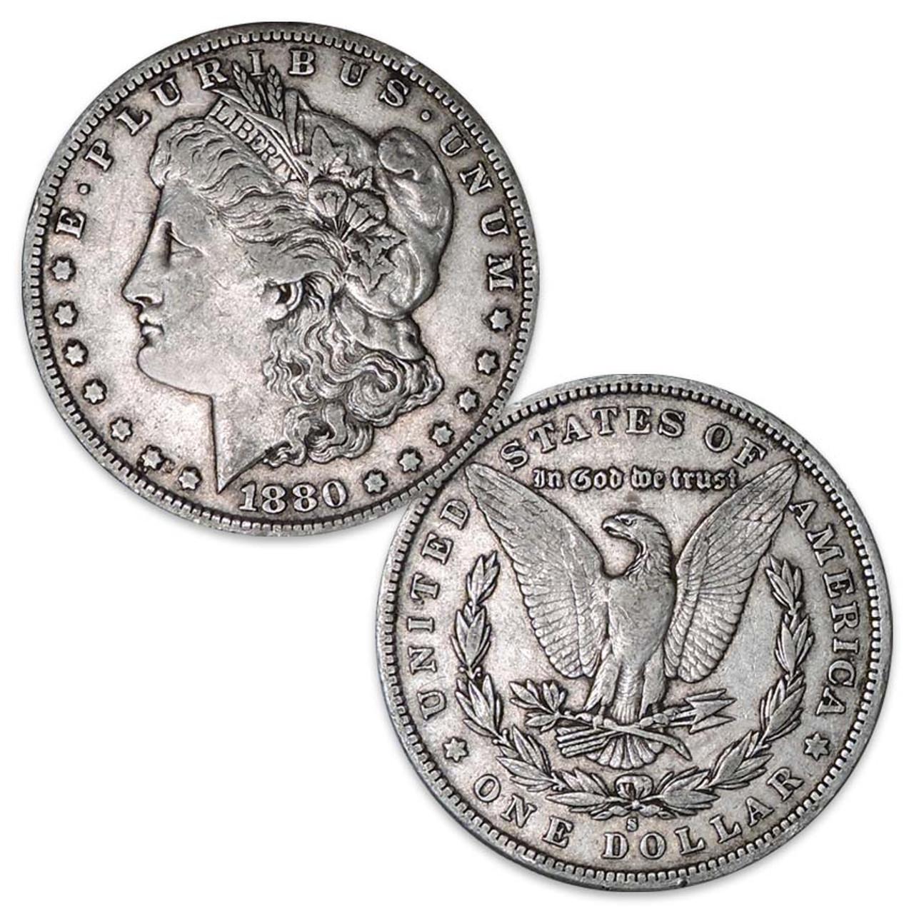 1880-S Morgan Silver Dollar Very Fine Image 1